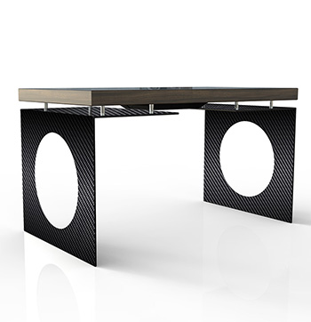 D-Young esperienza touch screen- colore nero - vista frontale - D-Table