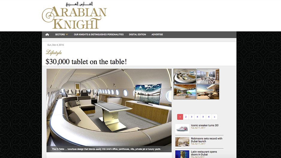 Arabian knight Lifestyle D-Table