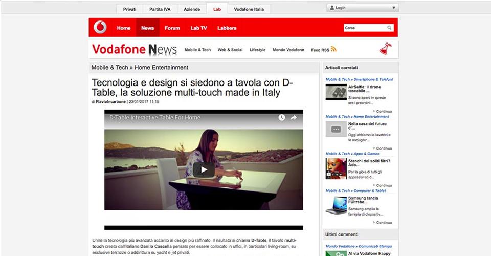 Vodafone News D-Table