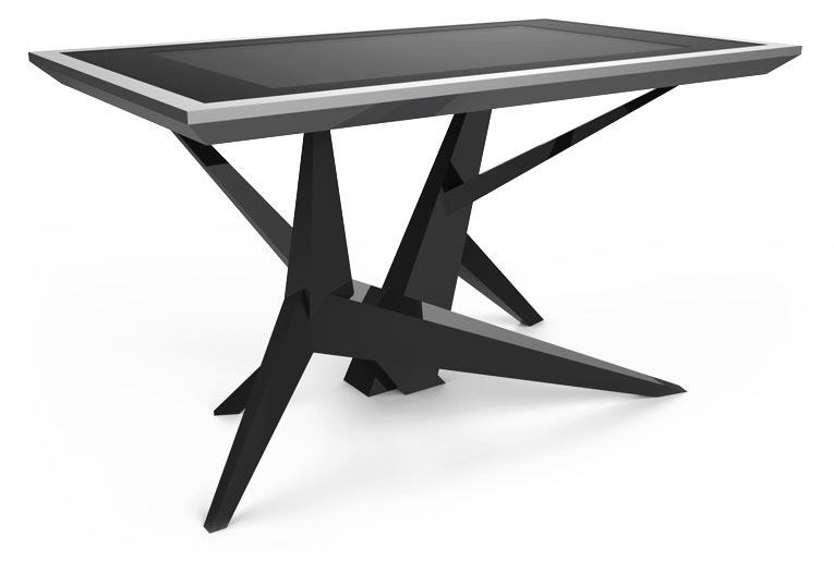 D-Cosmo Silver and Black Color touch screen table