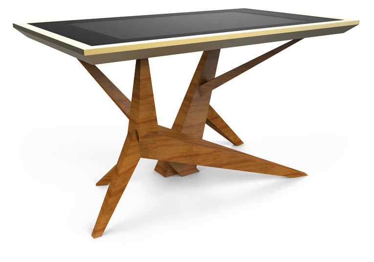 D-Cosmo Wood Color Luxury table display