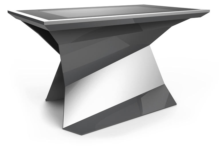 D-Monster multitouch surface Table Silver Color