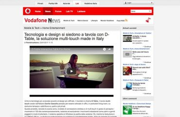 Vodafone News D-Table