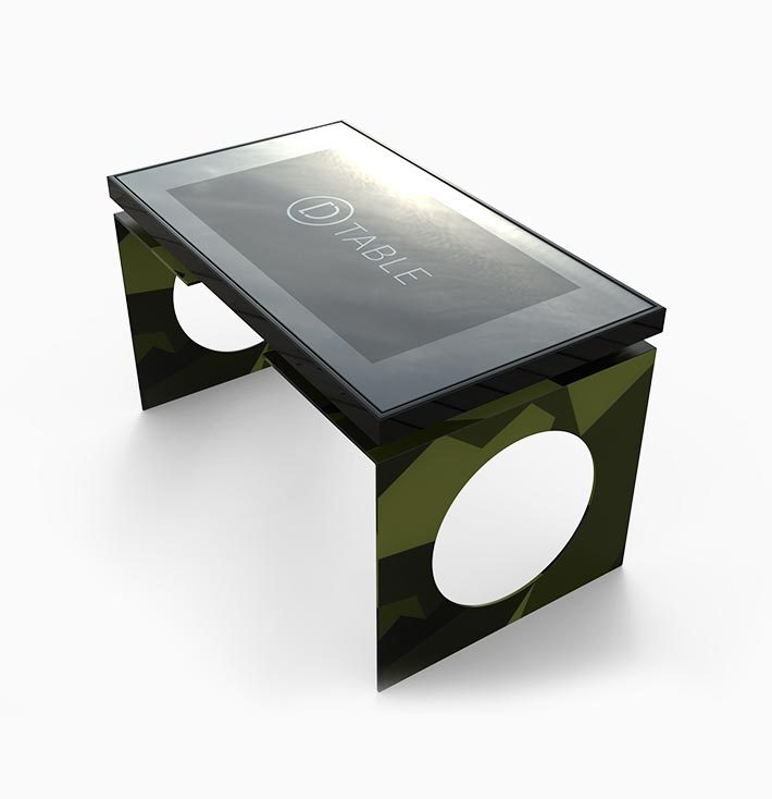 D-Young y generation table camouflage top view D-Table
