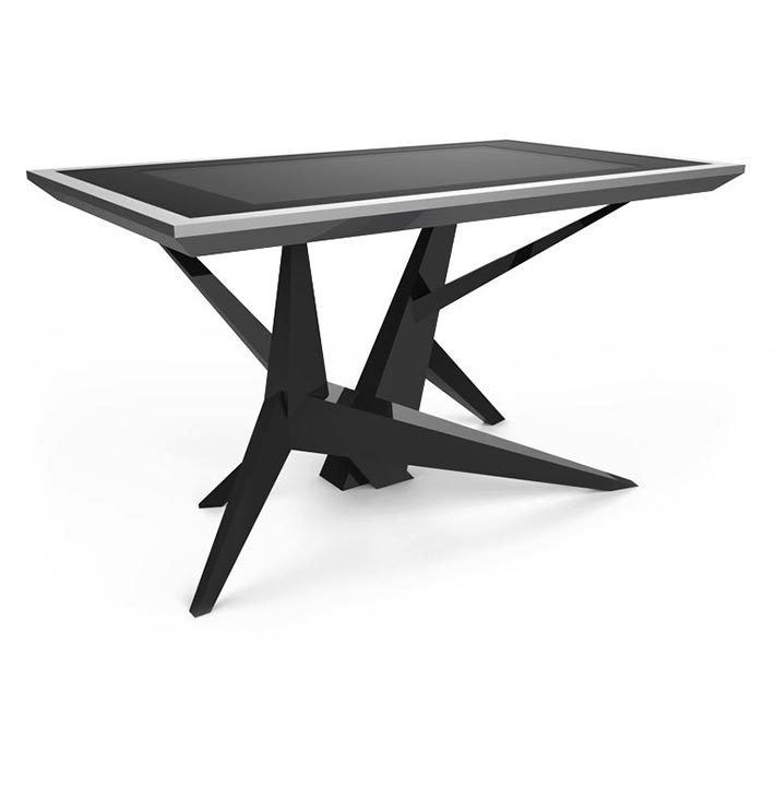D-Cosmo luxury multi touch table black & silver