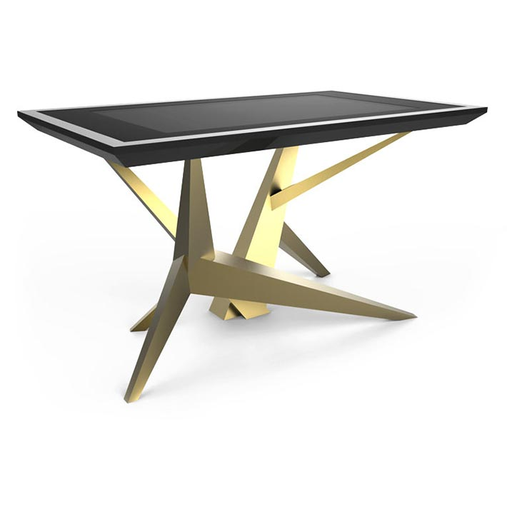 D-Cosmo luxury multi touch table gold & black