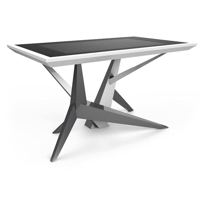 D-Cosmo luxury multi touch table silver