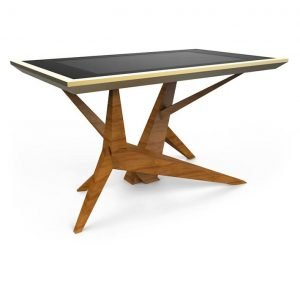 D-Cosmo luxury multi touch table wood & gold