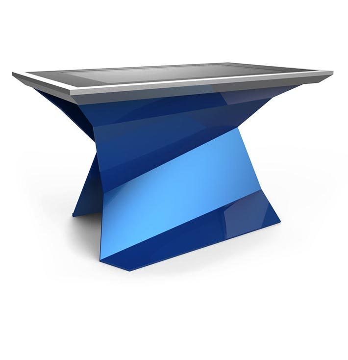 D-Monster interactive multi touch table blue