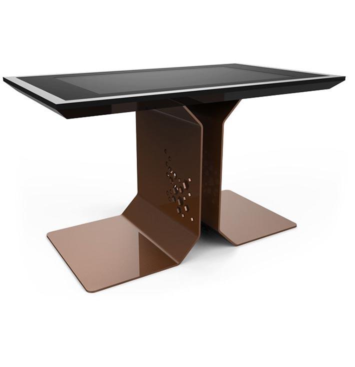 d-time luxury multi touch table brown
