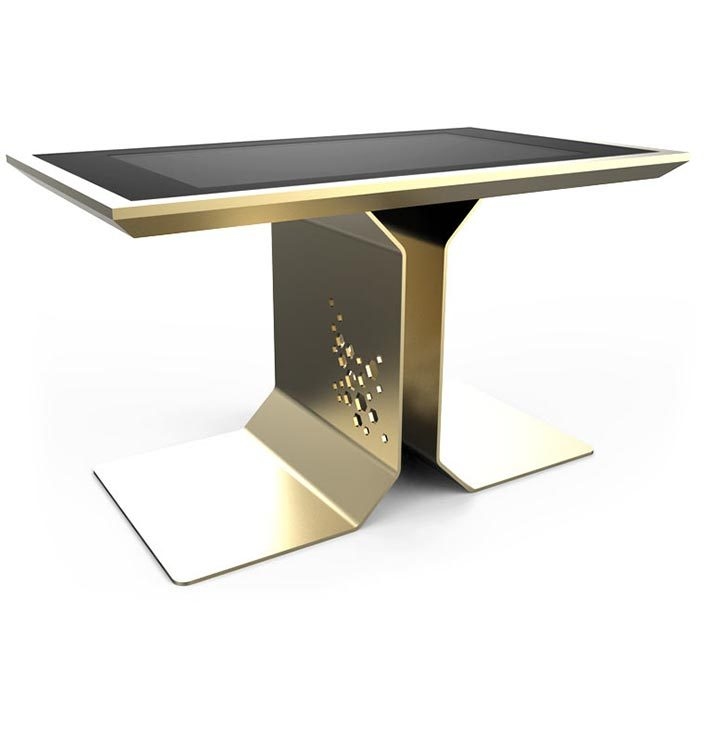d-time luxury multi touch table gold