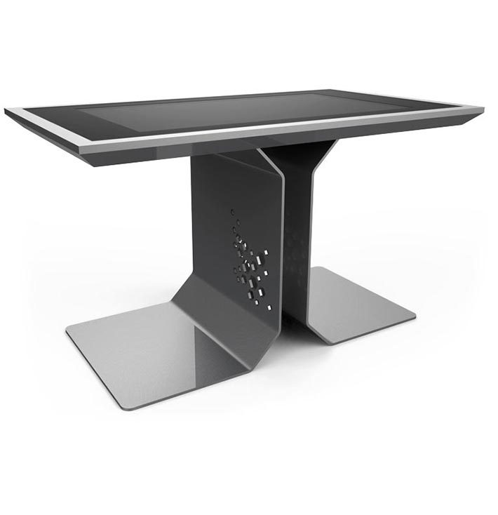 d-time luxury multi touch table silver