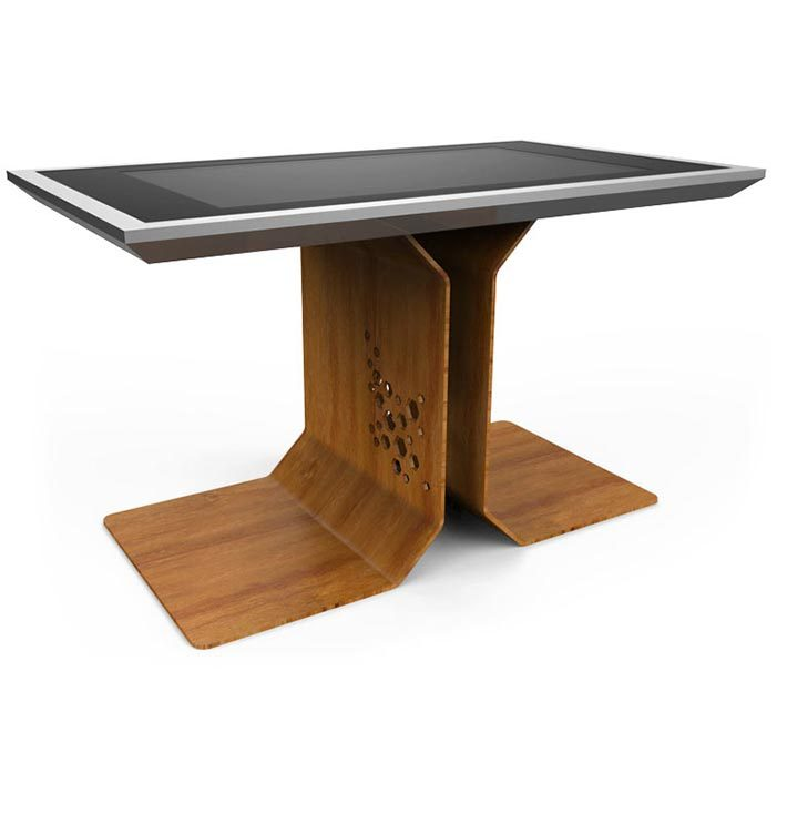 d-time luxury multi touch table wood