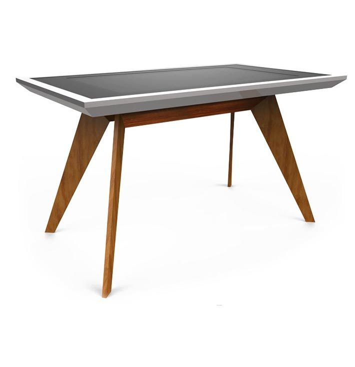 D-Zero-luxury multi touch table silver wood - D-Table