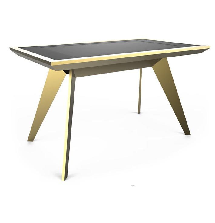 D-Zero luxury multi touch table total gold - D-Table