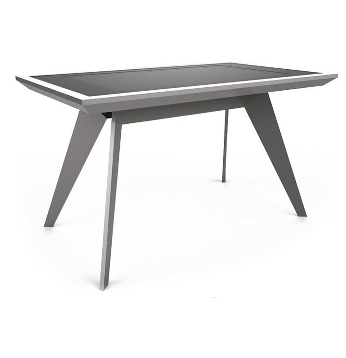 D-Zero luxury multi touch table total silver - D-Table