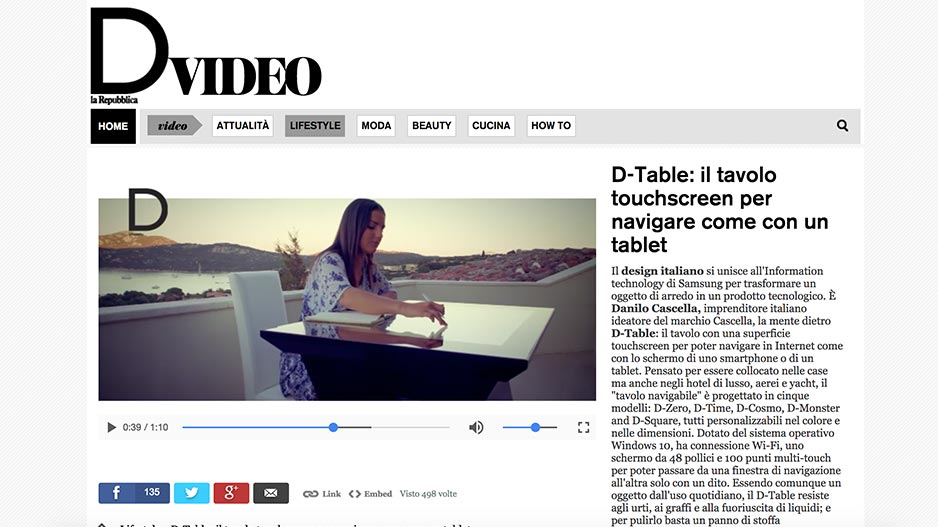D-Table La Repubblica