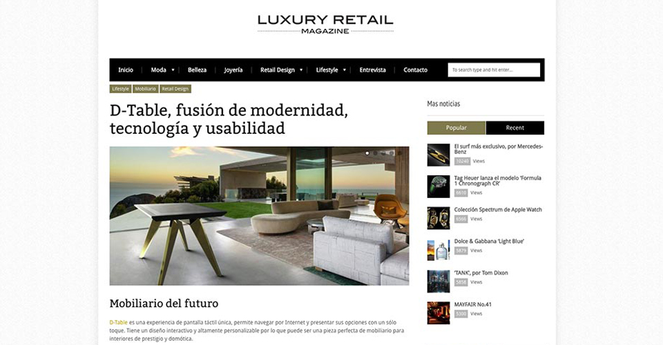 D-Table Luxury Retail