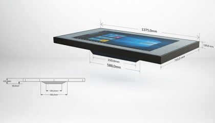 d table luxury multitouch table