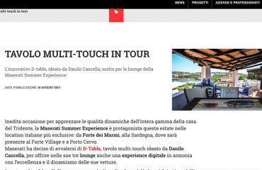 D-Table Tavolo Multitouch in Tour