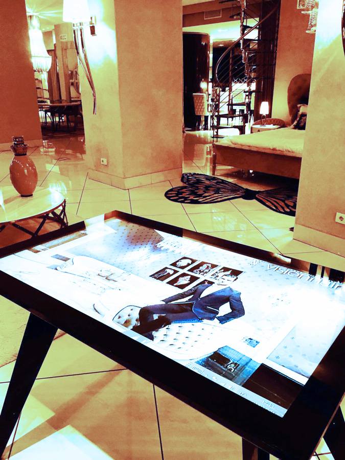 D-Table On Visionnaire Multitouch Table