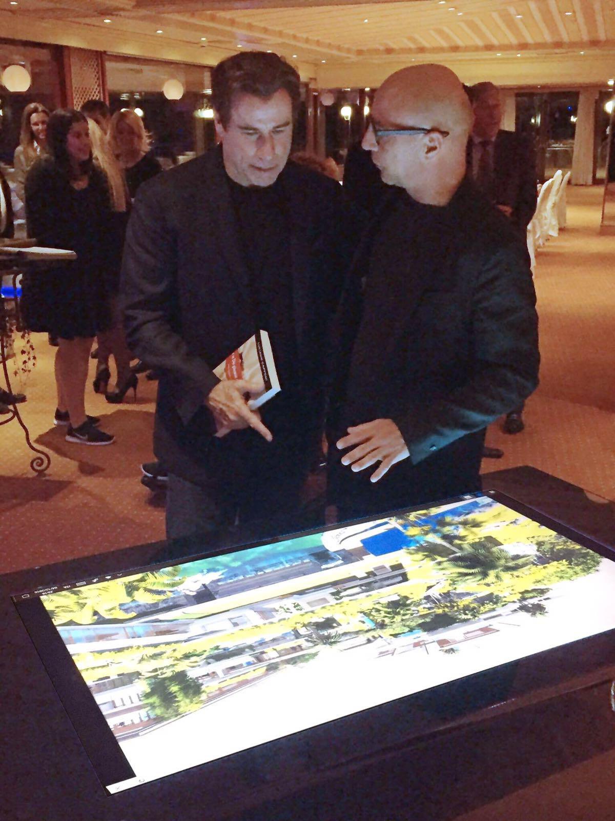 John Travolta and Danilo Cascella