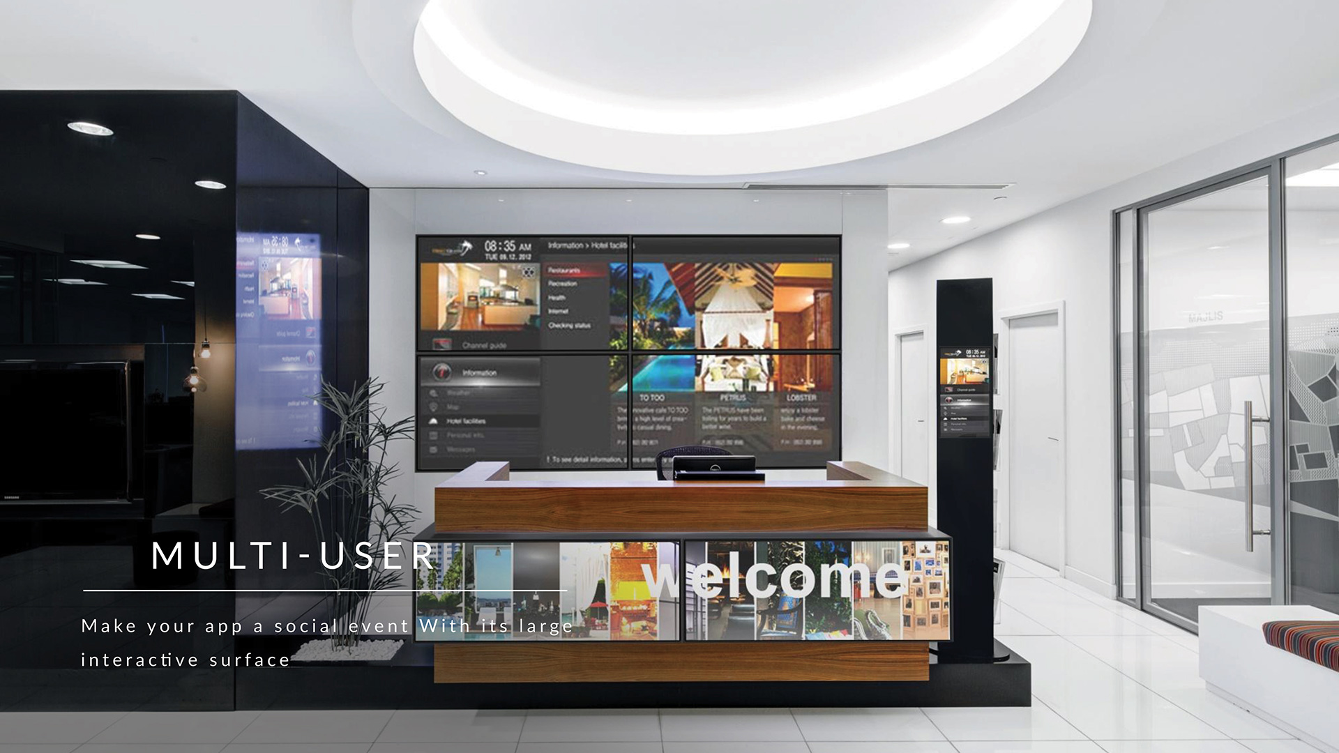 multi-user touchscreen hotel