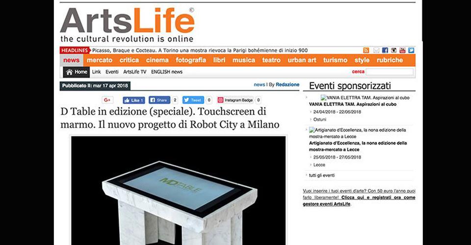 Art Life D-Table è un tavolo tecnologico speciale