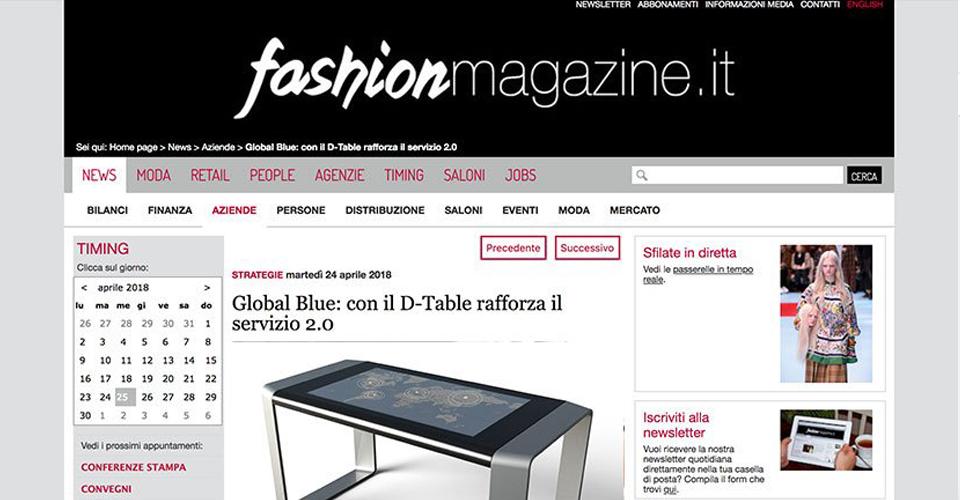 Fashion magazine D-Table