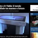 Robot City e D-Table: il tavolo multimediale tra marmo