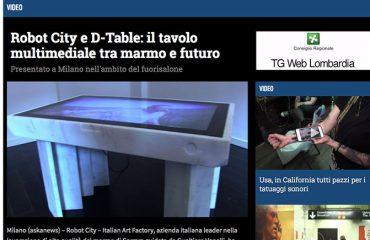 Robot City e D-Table: il tavolo multimediale tra marmo