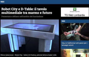 Robot City D-Table il tavolo del futuro