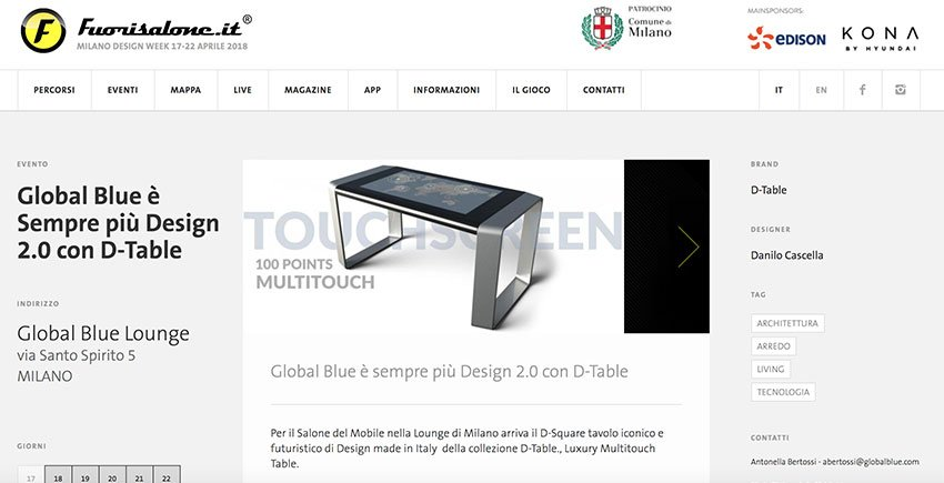 D-Table Fuori Salone