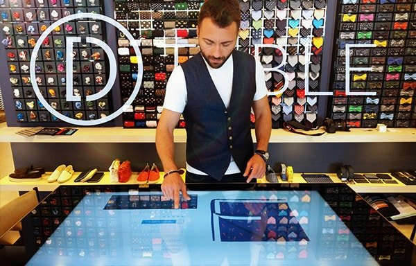 D-Table Pitti Uomo 2018 Touch Table