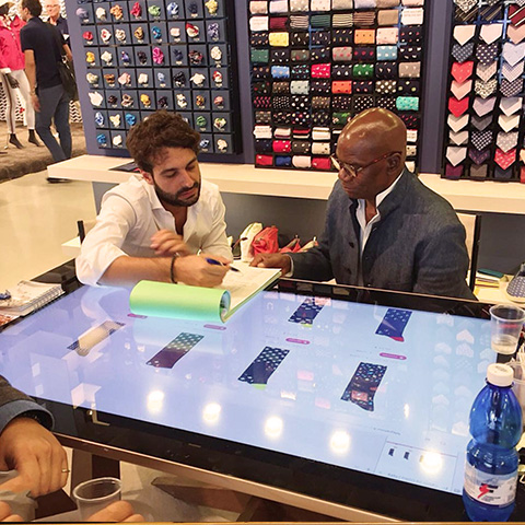 Pitti uomo 2018 touch table