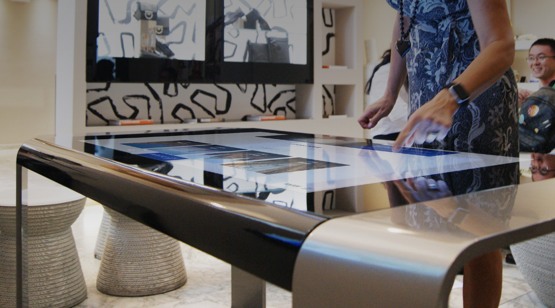 The first multitouch table by Danilo Cascella