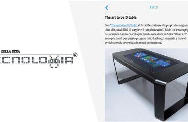 D-Table Corriere della sera tecnologia multitouch