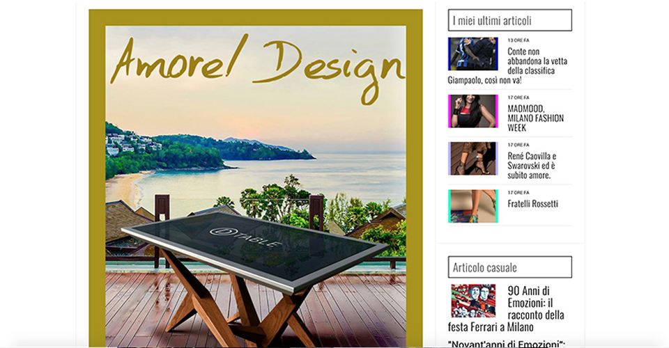D-Table Amore Design