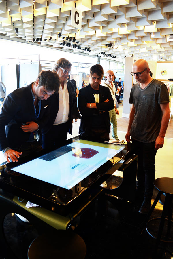 D-Young Interactive Multitouch Table at Pitti Uomo 2017
