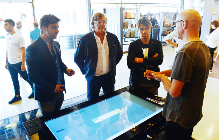 D-Young by D-Table, Interactive Table at Pitti Uomo 2017