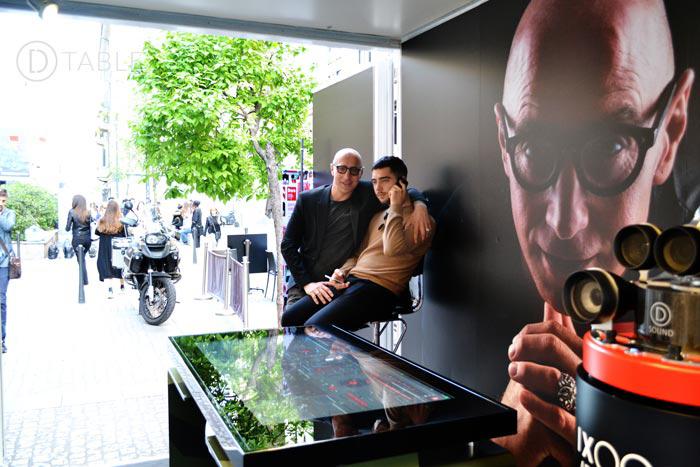 Cascella & Edoardo Cascella, his son whit the D-Square
