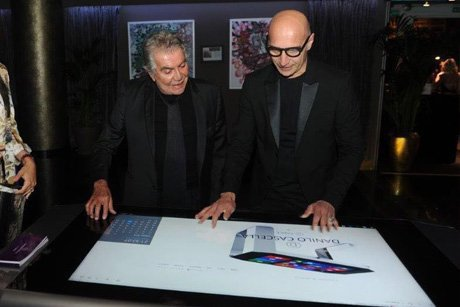 Danilo Cascella and Roberto Cavalli enjoy at D-Square
