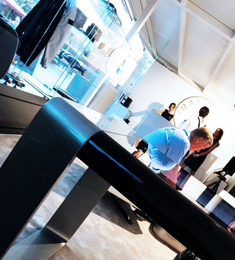 Silver D-Square, Multitouch Luxury Design Table