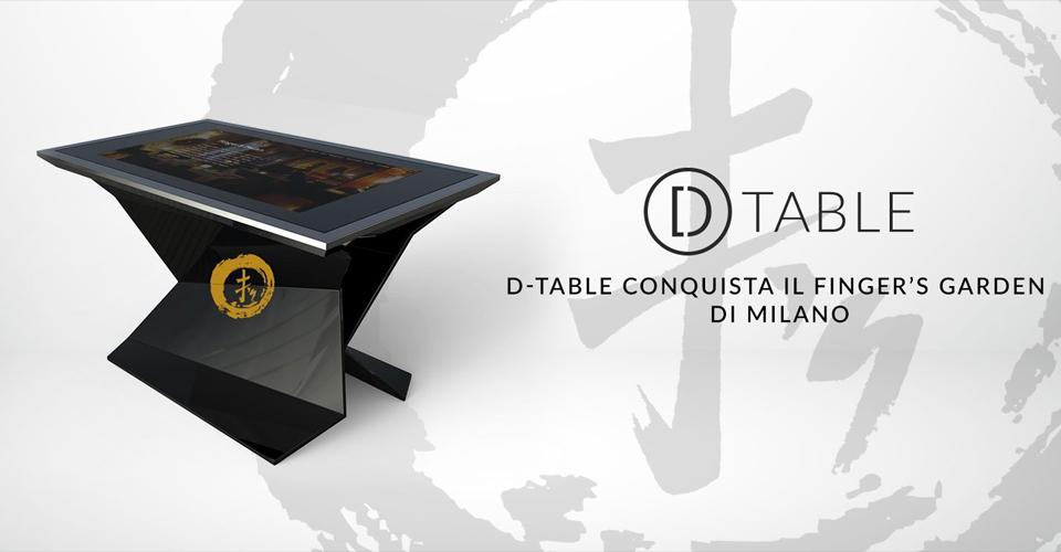 D-Table Conquista il Fingers Garden di Milano